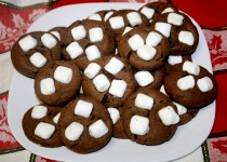 Hot Chocolate Cookies with Mini Marshmallows