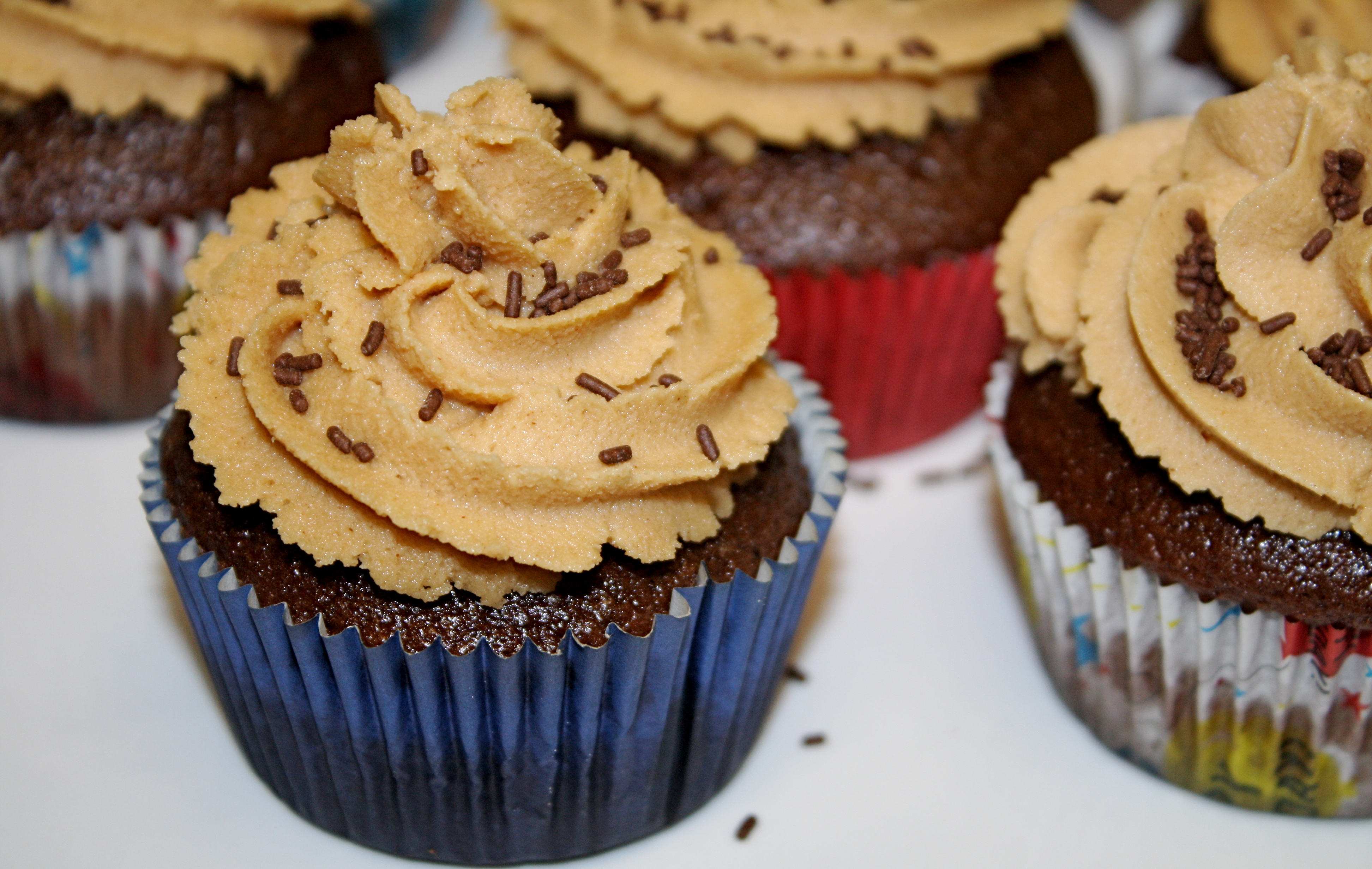 Dark Chocolate Cupcakes with Peanut Butter Frosting – The Quotable ...